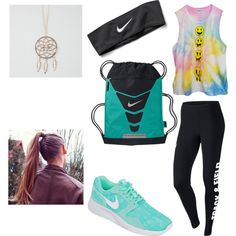 Untitled #17 by millie-huerta on Polyvore featuring polyvore fashion style NIKE Full Tilt