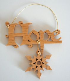 Hope Christmas Ornament Inspirational Saying Snowflake Ornament Wood Scroll Saw…