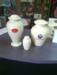 Military cremation urns- Snapdragon's Floral & Gifts, Dayton, Wa. 509-382-2565