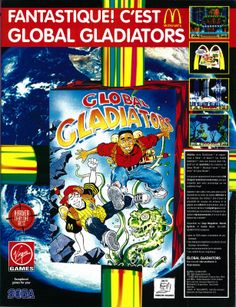 Global Galdiators for Mega Drive, Master System and Game Gear (France, Virgin Games, May 1993)