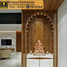 We make it Possible with our ONE-STOP Home Solution which provides Interior Designer, Contractor, Furniture's basically everything. Indian Interior Design, Indian Home Design, Room Partition Designs, Hallway Designs, Modern Apartment Decor, Apartment Interior, Room Interior, Ganpati Decoration At Home, Temple Design For Home