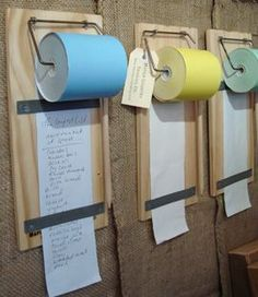 Shopping lists- so cool! this site sells them for $34, but it could be really cheap to make.: