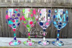 Personalized Wine Glass 20 oz Bachelorette Party, Birthday, Wedding, Bridesmaid on Etsy, $10.00