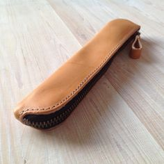 Small leather pencilcase by wolfram Lohr