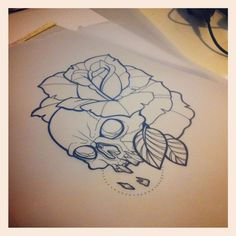 Sara Fabel - Sketches Tattoo. (I love the line work on this onneeee)