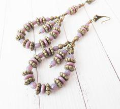 Unique handmade purple beaded earrings #earrings #handmade #jewelry #purple Purple Earrings, Beaded Earrings, Earrings Handmade, Tassel Necklace, Handmade Jewelry, Unique Gifts, Etsy, Handmade Jewellery, Jewellery Making