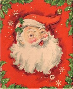 Santa.love the old fashion christmas cards