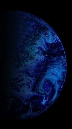 Blue ball, paint, stains, 1440x2560 wallpaper