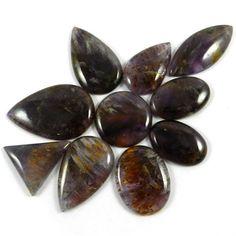 10Pcs Cacoxenite Cabochon Wholesale lot Trendy Fashion Jewelry Gemstone GS00109 #shining_gems #gemstones #jewelry #Beads