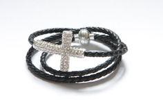 Cross Jewelry  Cross Wrap bracelet On Sale by ClassyLeather, $16.20 Etsy Jewelry, Jewlery, Handmade Jewelry, Unique Jewelry, Handmade Gifts, Wedding Pinterest, Cross Jewelry, Crosses, Bling Bling