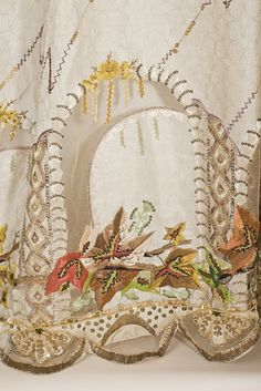 detail, Evening dress ca. 1795  From LACMA