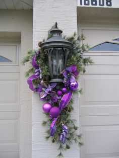 Top Purple Christmas Decorating Ideas – Christmas Celebration – All about Christmas – The Best DIY Outdoor Christmas Decor Purple Christmas Decorations, Purple Christmas Tree, Christmas Swags, Christmas Colors, All Things Christmas, Christmas Lights, Christmas Holidays, Christmas Crafts, Christmas Tables