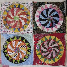 Wheel of Fortune or Cog Wheel quilt blocks.