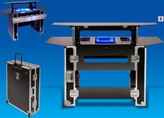 Different Styles of Portable Bars for Events Portable Bar Table, Dj Table, Bar Tables, Mobile Coffee Cart, Outdoor Bar Table, Bar Station, Campaign Furniture, Dj Booth, My Bar