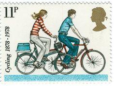 Cycling - British postage stamp