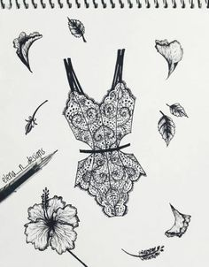 Fashion ilustration 2018 ideas – Fashion World Lingerie Illustration, Fashion Illustration Sketches, Illustration Mode, Fashion Sketchbook, Fashion Sketches, Drawing Sketches, Flower Fashion, Fashion Art, Fashion Ideas