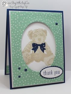 Stampin' Up! Baby Bear Thank You – Stamp With Amy K