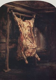 Carcass of Beef by Rembrandt van Rijn