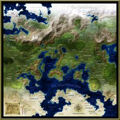 This map represents both my first attempt at digital cartography, and my first digital project period. I am tremendously indebted to the good people at . The Known World of Eriond Fantasy Map Maker, Fantasy World Map, Fantasy City, Fantasy Rpg, City Landscape, Fantasy Landscape, Imaginary Maps, Rpg Map, World Map Design