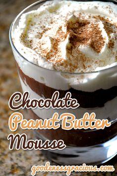 Chocolate Peanut Butter Mousse #Chocolate #TechInTheKitchenVZW