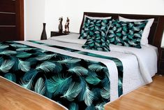 Prehozy na posteľ sivé s moderným vzorom Comforters, 3d, Blanket, Furniture, Home Decor, Creature Comforts, Quilts, Decoration Home, Room Decor