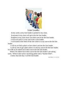 Line Leader Social Story - Pinned by @PediaStaff – Please Visit  ht.ly/63sNt for all our pediatric therapy pins