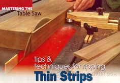 Table Saw Thin Rip Jig - Table Saw Tips, Jigs and Fixtures | WoodArchivist.com