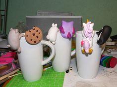 Polymer clay tea bag holders