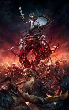 Warhammer Age of Sigmar Artwork | Daughters of Khaine Artwork Bloodwrack Shrine Medusa http://wellofeternitypl.blogspot.com #artwork #art #aos #warhammer #ageofsigmar #sigmar #arts #artworks #gw #gamesworkshop #wellofeternity #wargaming #wallpaper