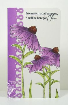 Overlapping Coneflowers by ravengirl - Cards and Paper Crafts at Splitcoaststampers