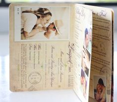 Wedding Invitations | Wedding Stationery | South Africa | Secret Diary | Passport invitation – Marisa and Neill