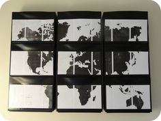 world map IKEA trones.  love the idea of mod podging some kind of art to the fronts