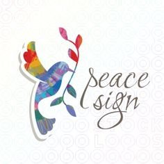 A graceful dove extends an olive branch as a sign of peace. This logo template is perfectly suited for a wide range of industries