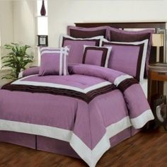 Bring freshness indoors with the beautiful Lilac Bouquet 8-Piece Comforter set. Featuring a rich purple in a gorgeous color-block design, it is sure to be a perfect fit for almost any room.