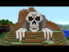 Minecraft Tutorial: How to Make a Skeleton House | Scary Halloween House | Cave House | Skull - YouTube