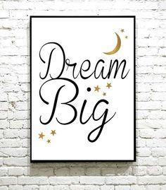 Supersøt plakat til barnerommet Dream Big, I Shop