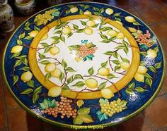 Italian Home and Garden Tables - Limoni & Grapes-click for sizes in stock/pricing