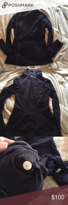 Lululemon Bhakti jacket deep purple Good condition, worn a handful of times, washed twice and hung to dry both times. lululemon athletica Jackets & Coats