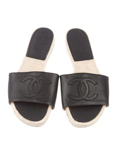 Chanel Leather Slides - Shoes - CHA491623 | The RealReal Shoe Closet, Chanel, Leather, Shoes, Shoe Cabinet, Shoe Cupboard, Zapatos, Shoes Outlet, Shoe