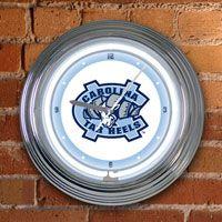 North Carolina Tar Heels Neon Wall Clock