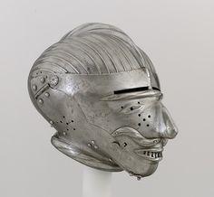 Armet with Mask Visor - Date: ca. 1520–25  Geography: Innsbruck; Nuremberg  Culture: German, Nuremberg or Austrian, Innsbruck  Medium: Steel