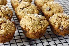 Vegan Banana Coconut Dark Chocolate Chip Muffins, SO GOOD!
