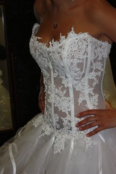 Robe de mariée haute couture Max Chaoul d'occasion Collection I Love You