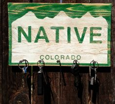 Key Holder by ColoradoJoes Colorado Native by ColoradoJoes on Etsy, $30.00