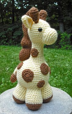 Greta the Giraffe by Monster's Toy Box Monster Toys, Toy Boxes, My Animal, Softies, Giraffe, Dinosaur Stuffed Animal, Dolls, Nice, Crochet
