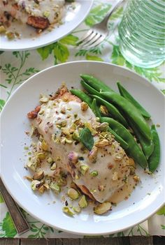 (via Pan-Seared Salmon with a Pistachio Mint Cream Sauce | Bev Cooks)