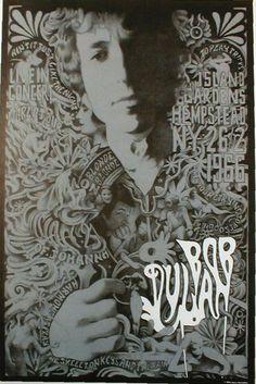 Bob Dylan Live World Tour Hempstead NY 1966 Concert Poster Print Limited RARE