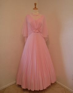Vintage1960s Wedding Dress Pale Pink Jack Bryan by KMalinka,