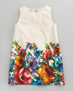 Fiori Colonnia Poplin Dress, Sizes by Dolce & Gabbana at Bergdorf Goodman. Little Girl Outfits, Little Girl Fashion, Toddler Fashion, Kids Outfits, Kids Fashion, Toddler Outfits, Toddler Dress, Baby Dress, Toddler Girls