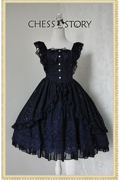 Chess Story Le Ballet Embroidery Lace Lolita Jumper Dress Luxury Version $126.99-Cotton Lolita Dresses - My Lolita Dress